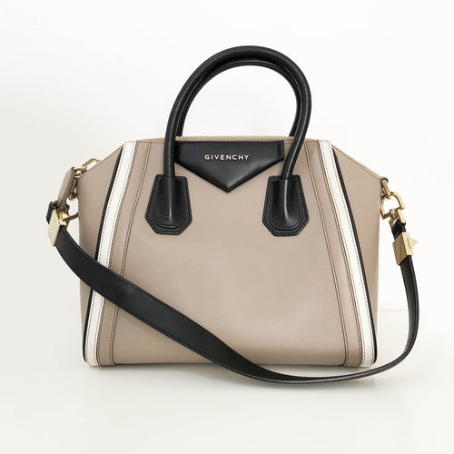 Givenchy Taupe Leather Small Antigona Satchel
