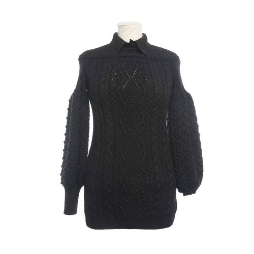 Valentino Black Collar wool  Long Top