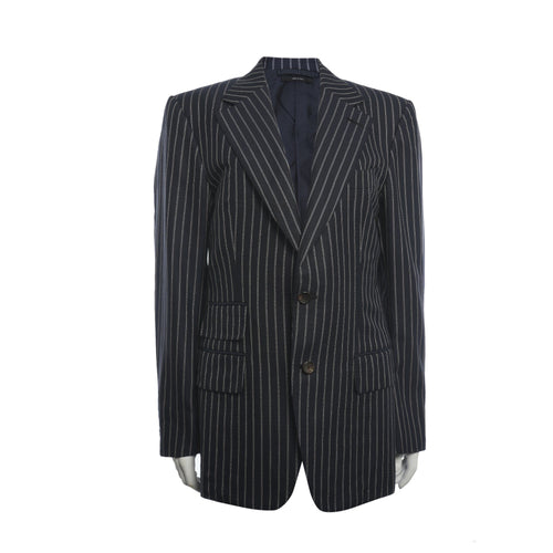 Tom Ford Striped Navy Notch Lapel Suit