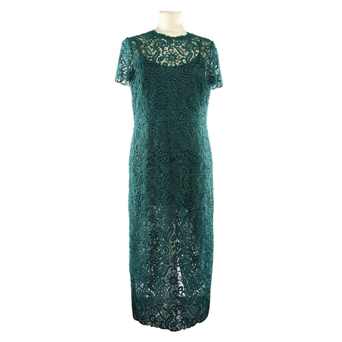 Valentino Green Lace Midi Dress