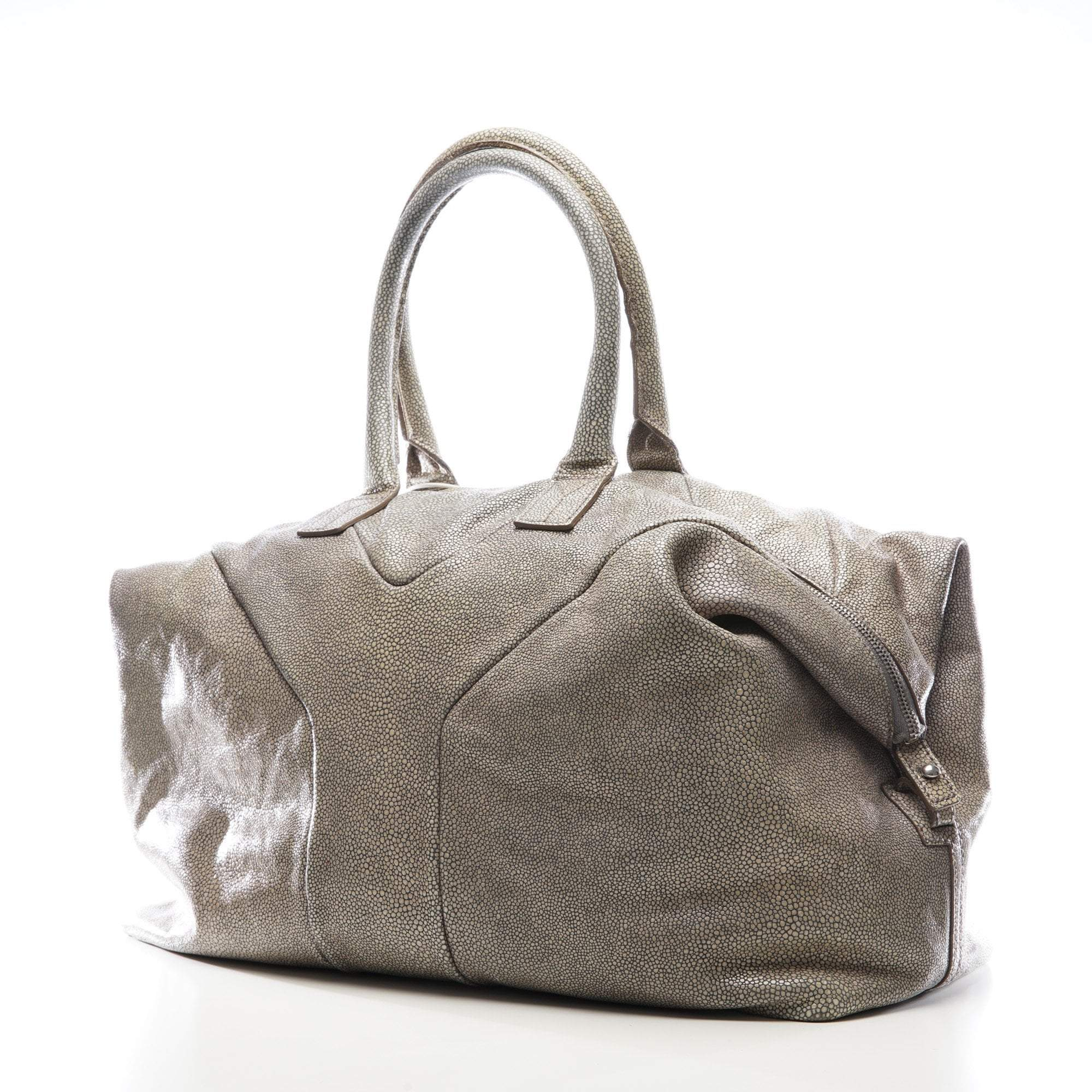 Yves Saint Laurent Grey Stingray Embossed Leather Easy Y Zip Tote Bag