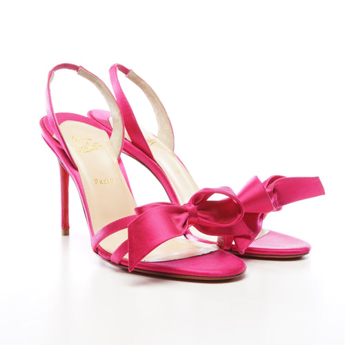 Christian Louboutin Grusanda 85 Bow-Embellished Satin Sandals