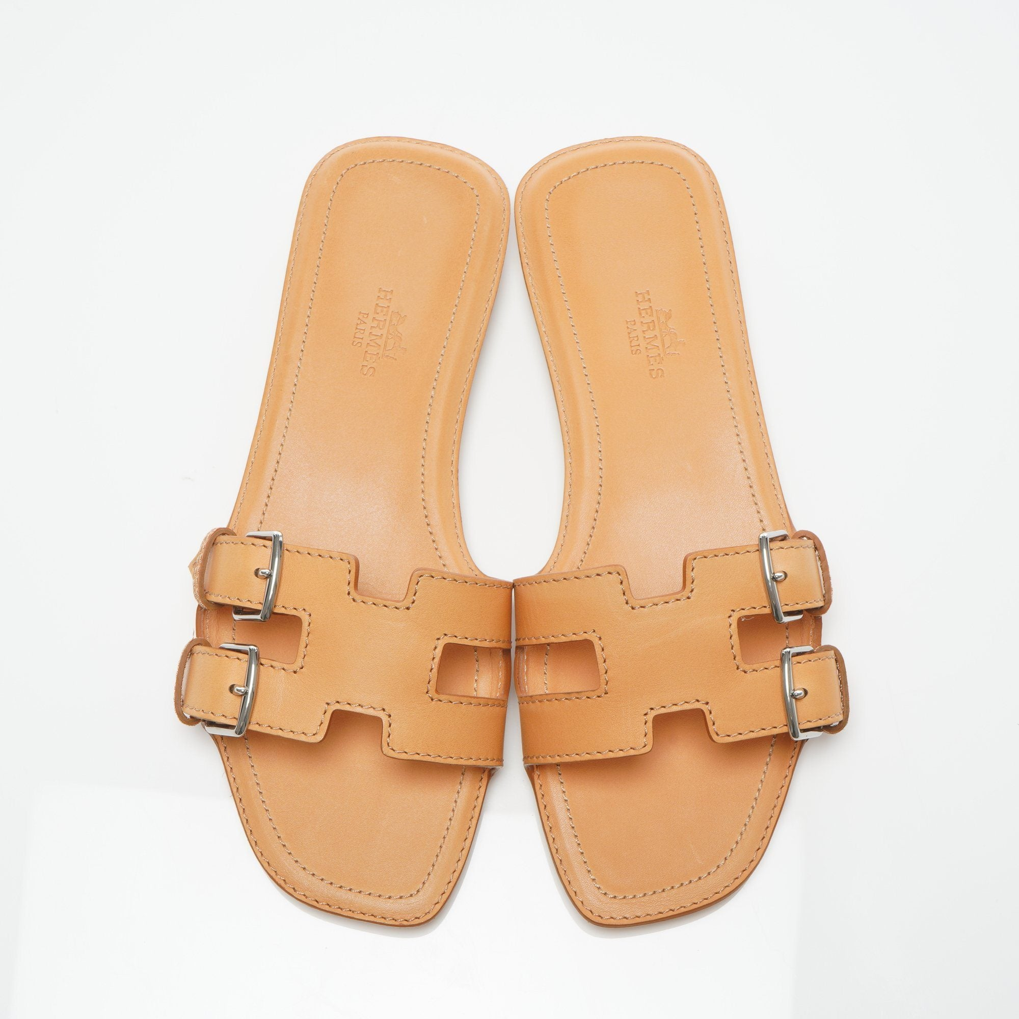 Hermes Remake Leather Mules