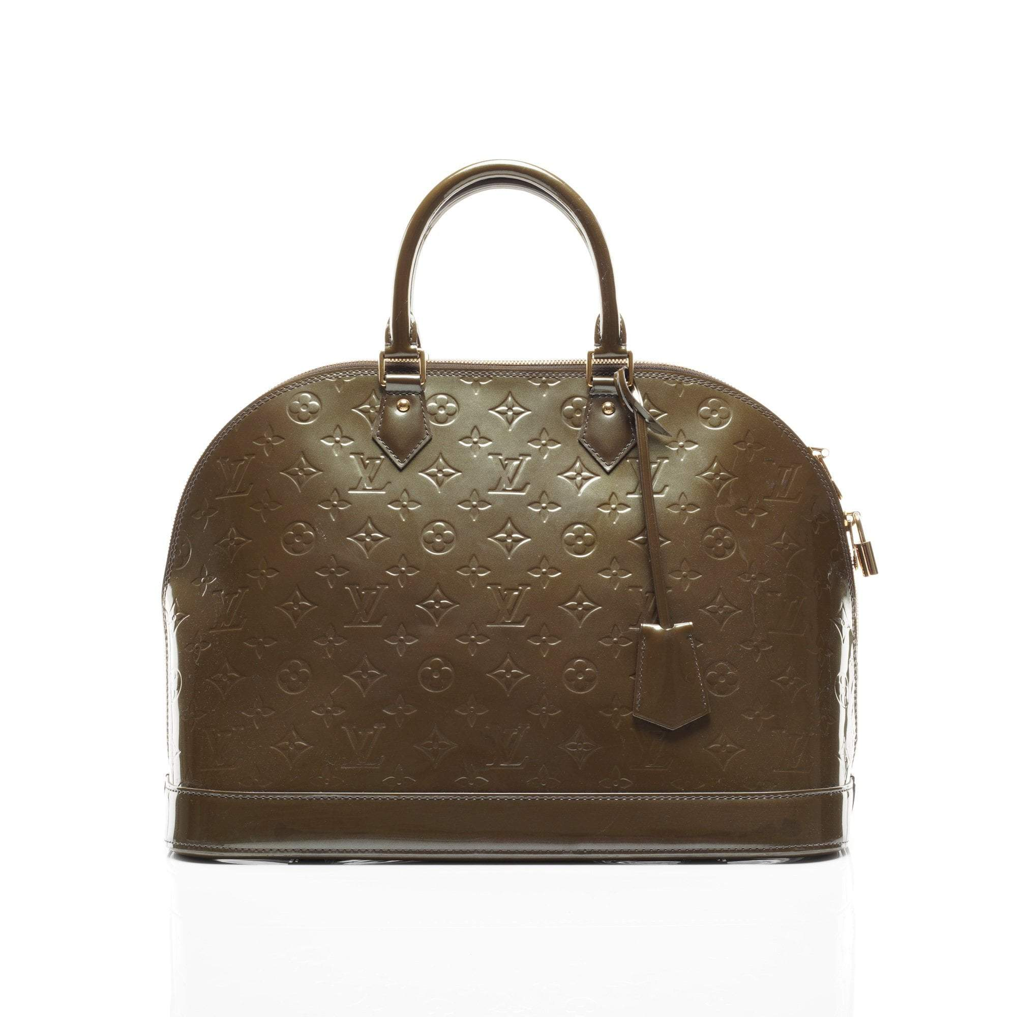 Louis Vuitton Alma Olive Monogram Vernis Top Handle Bag