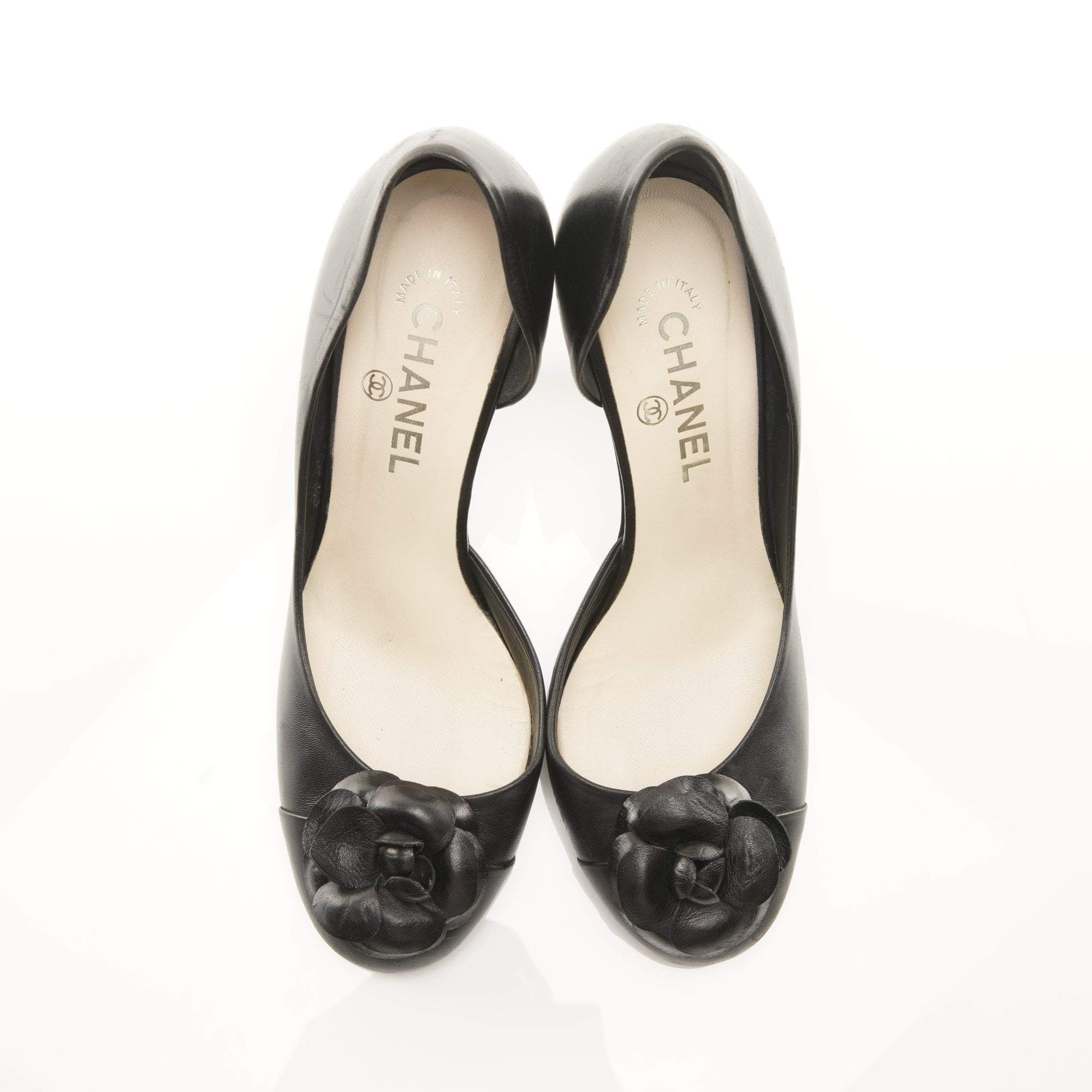 Chanel Camelia Cutout Pumps