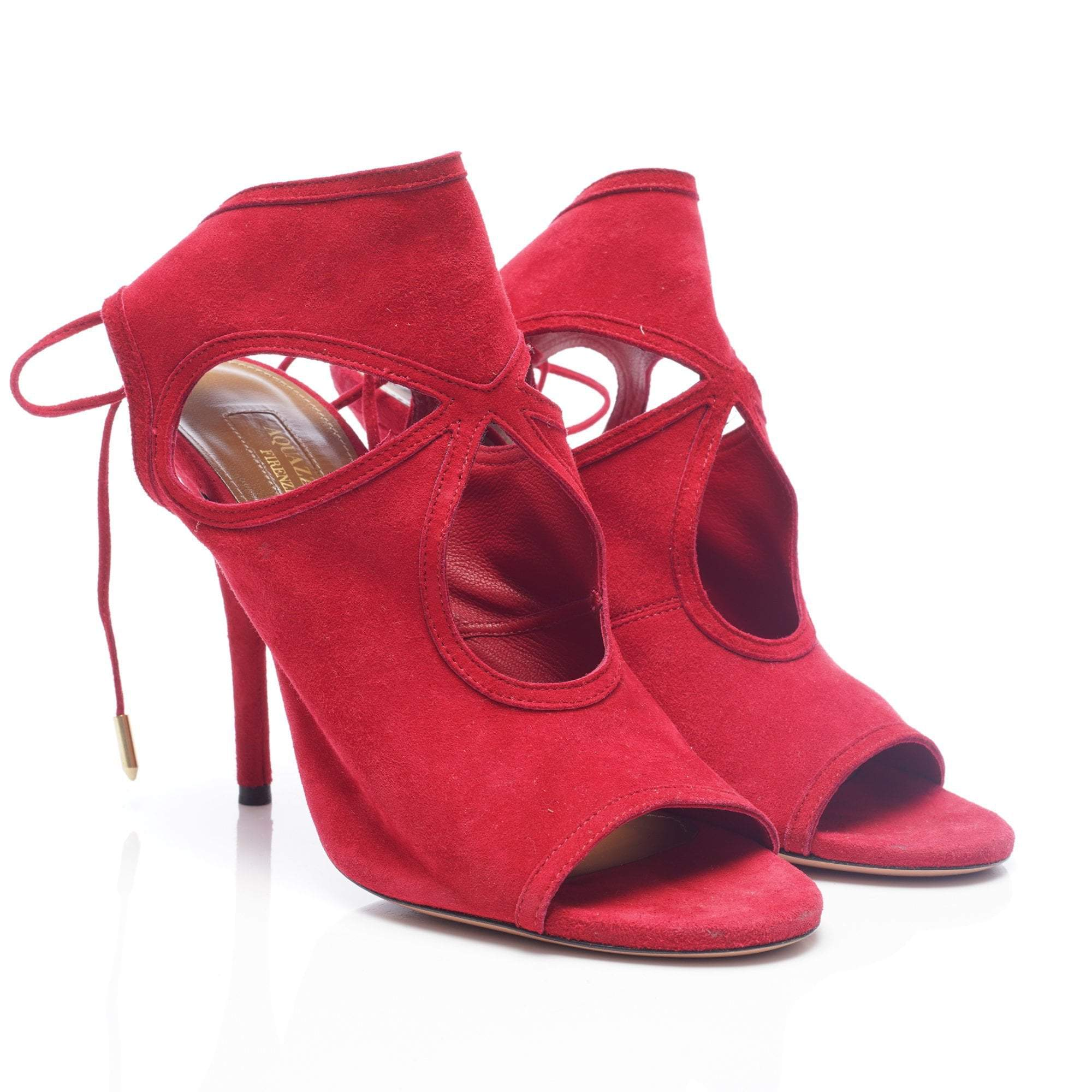 Aquazzura Sexy Thing 85 Suede Sandals