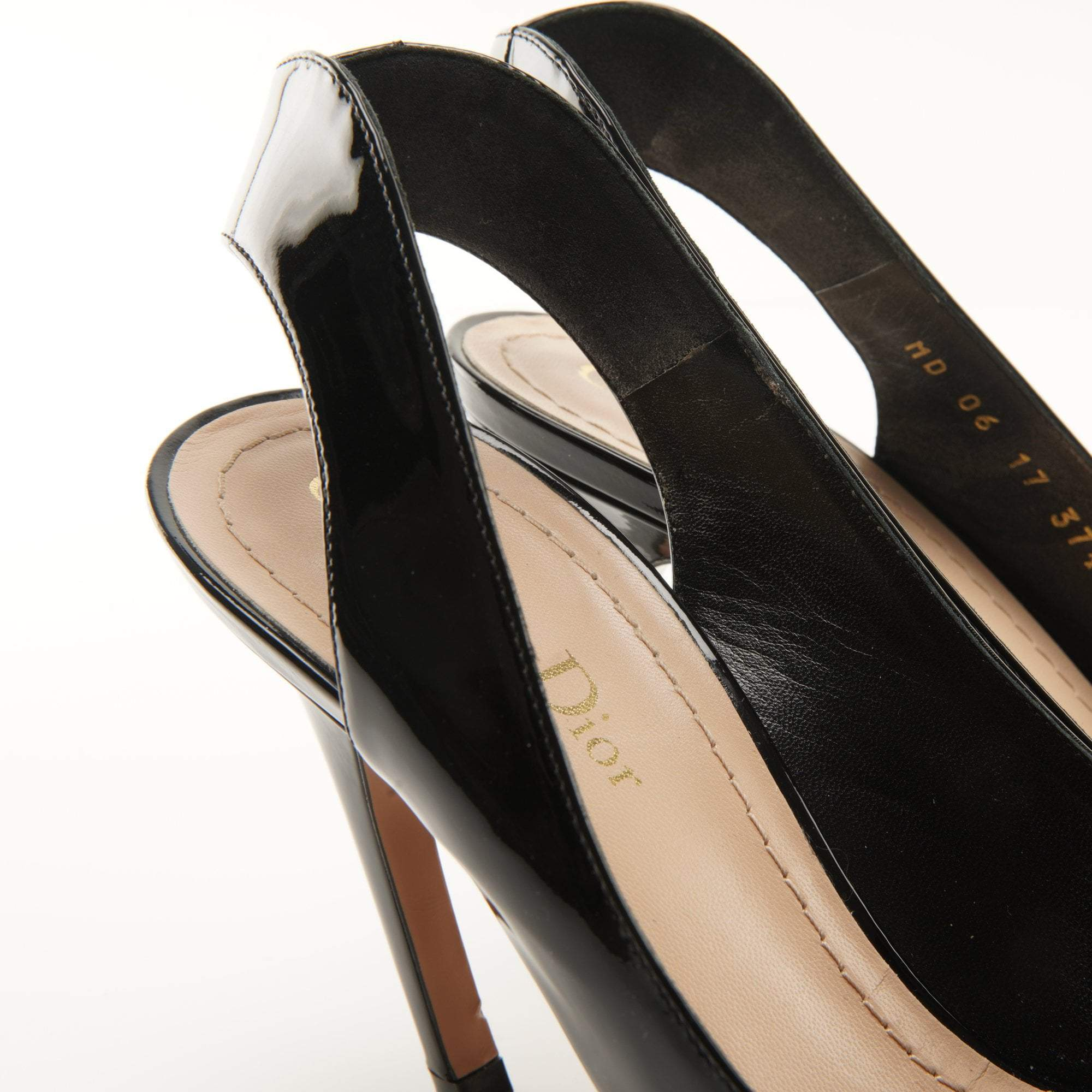 Christian Dior Patent Sling Back Pumps