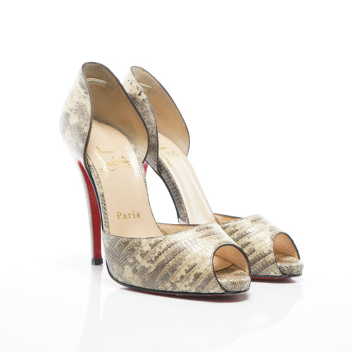 Christian Louboutin Python Madame Claude D'Orsay Pumps
