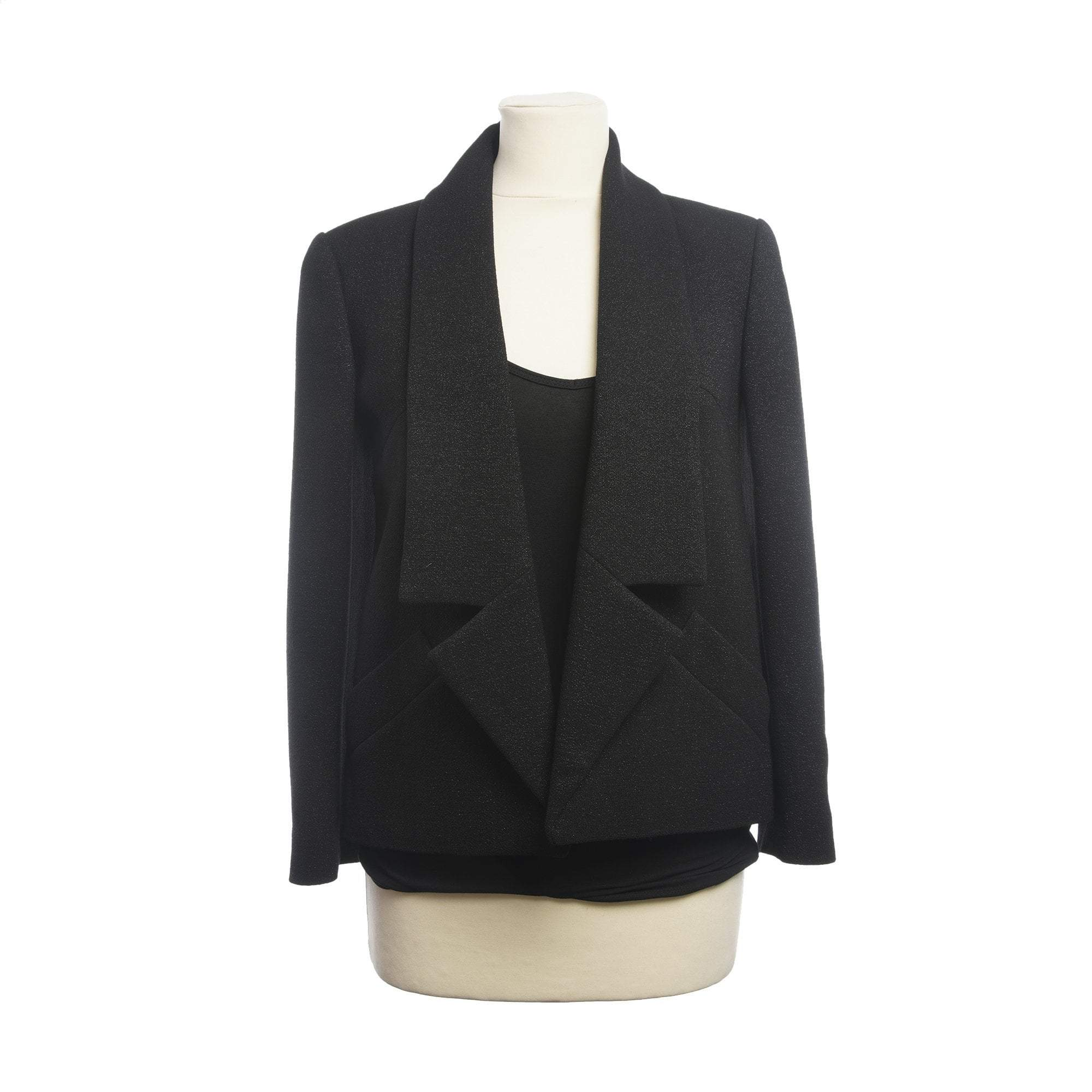 Chanel Black Shimmery Wool Blazer