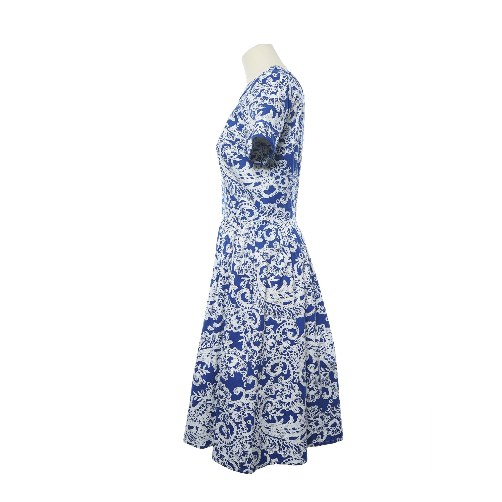 Oscar de la Renta Flared Printed Dress