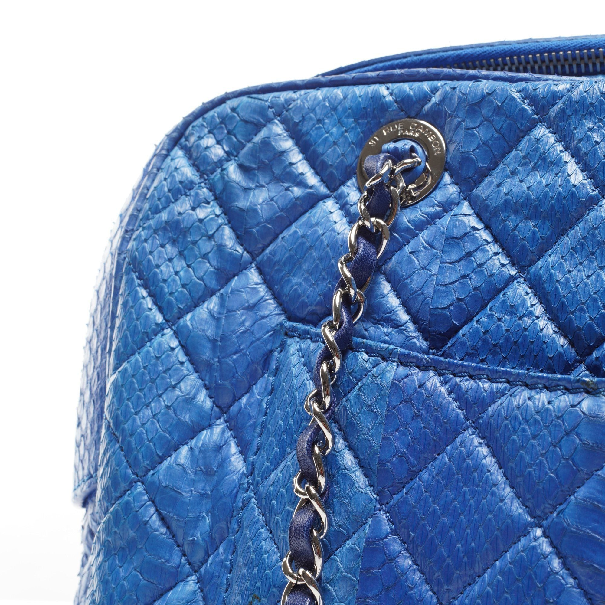Chanel Python Front Pocket Shoulder Bag