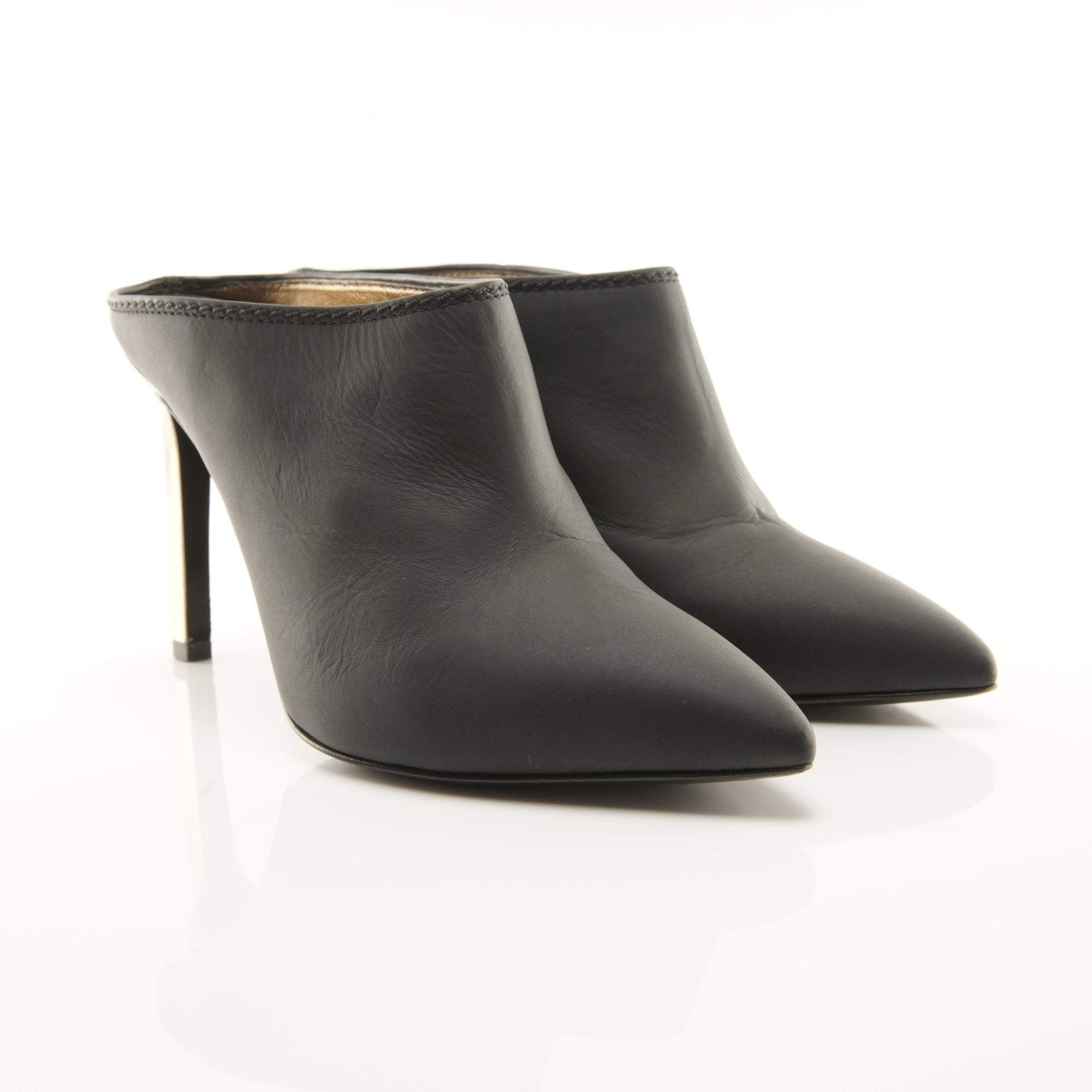 Lanvin Black Leather Mules