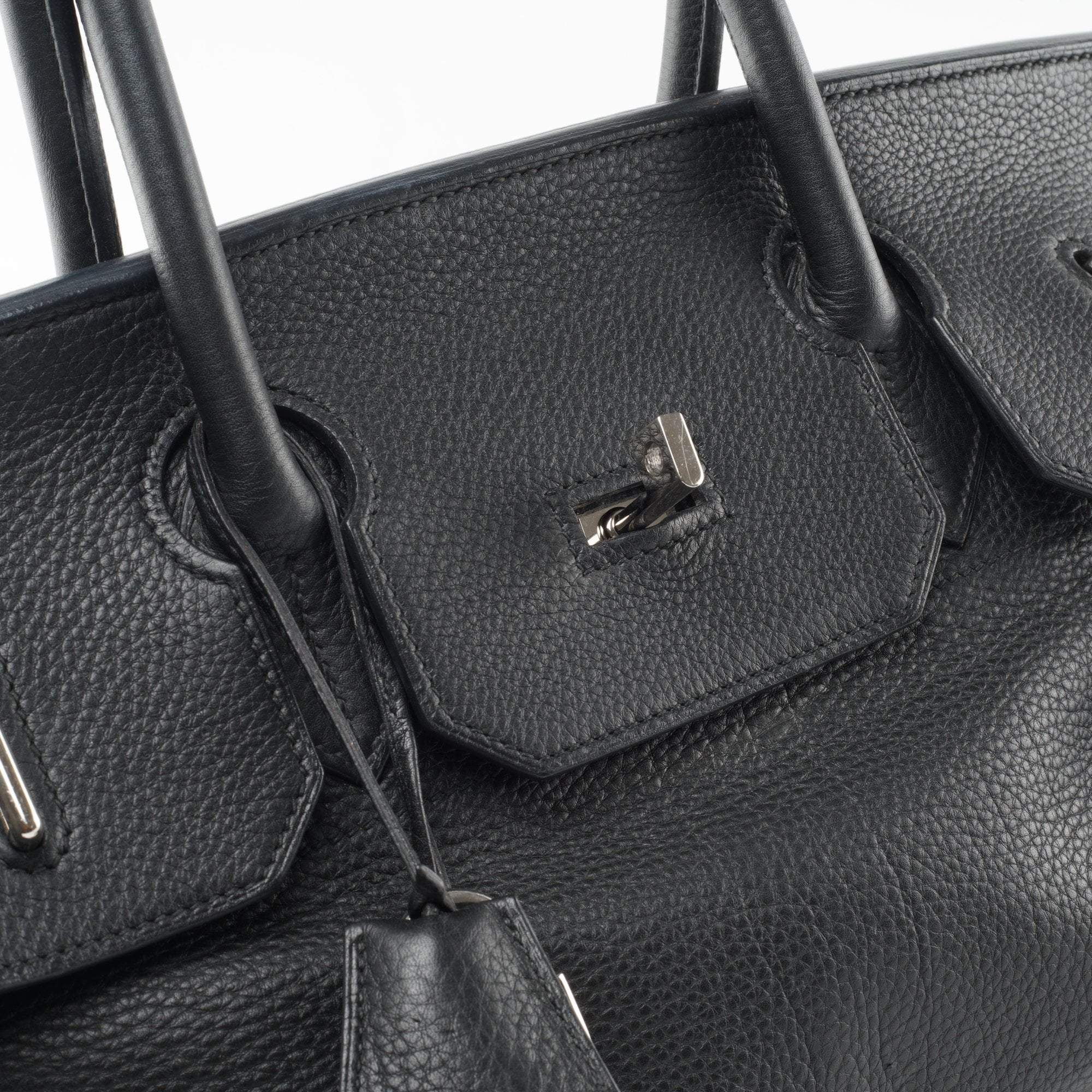 Hermes Black Togo Leather Birkin 42 Bag