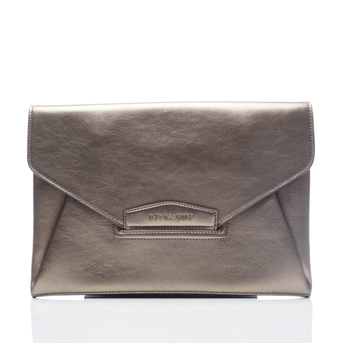Givenchy Antigona Bronze Leather Clutch