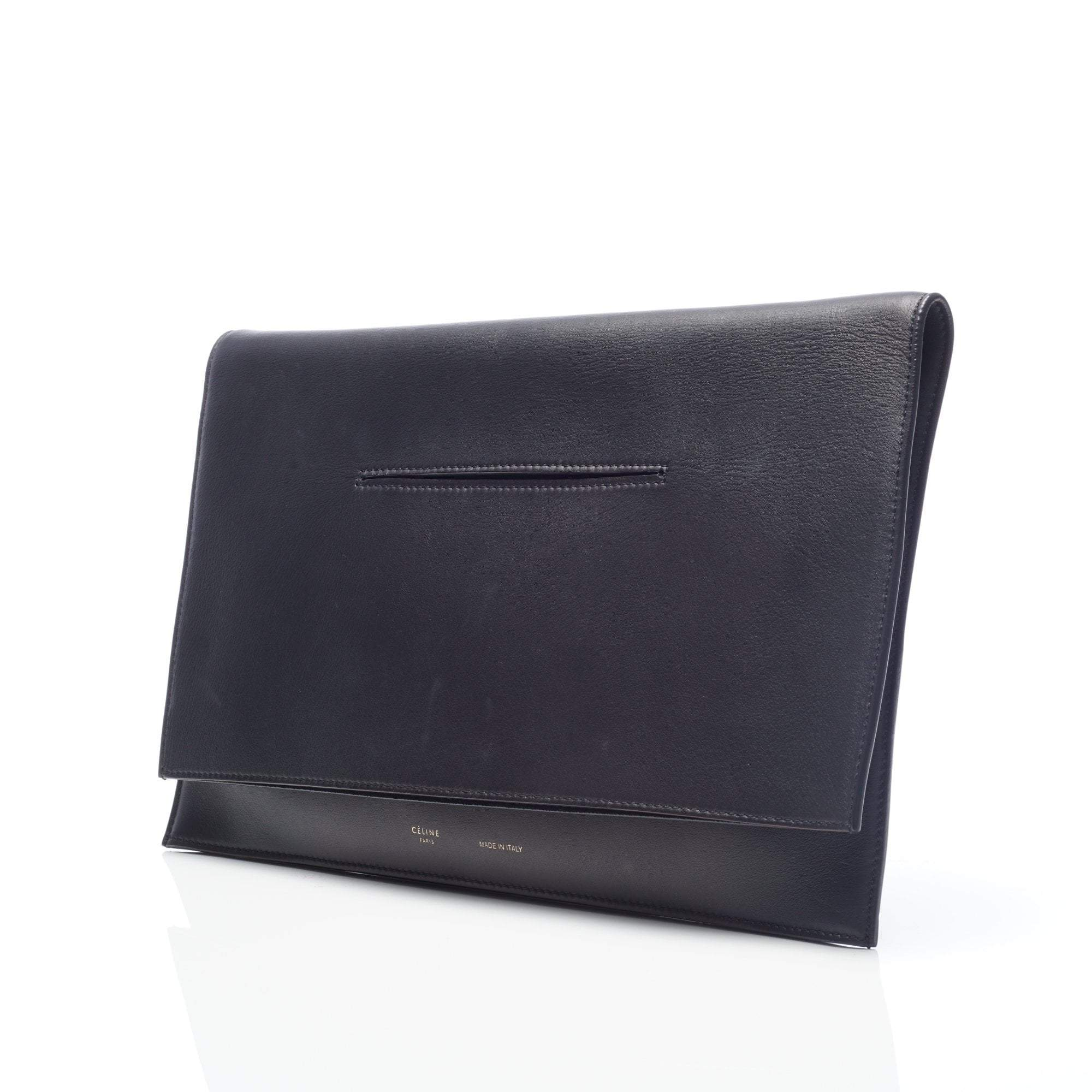 Celine Black Foldable Flat Blade Bag