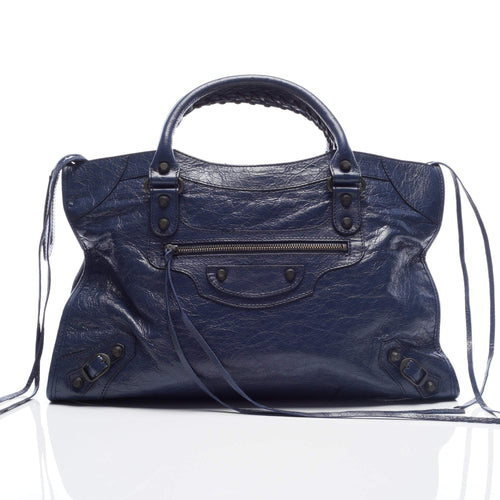 Balenciaga Classic Medium City Blue Bag