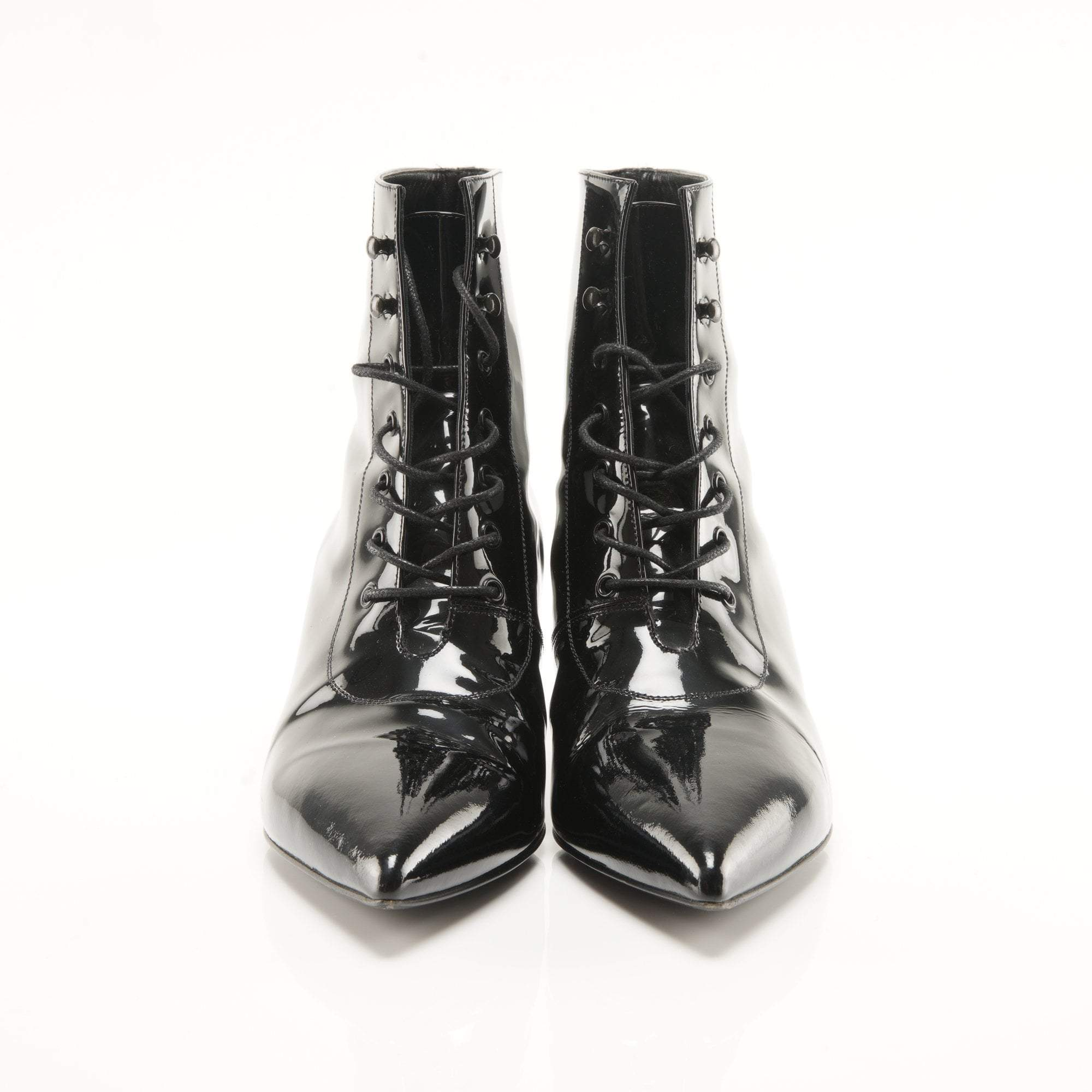 Saint Laurent Patent Leather Ankle Boots