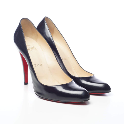 Christian Louboutin Black Decollete 868 Jazz Calf Pumps