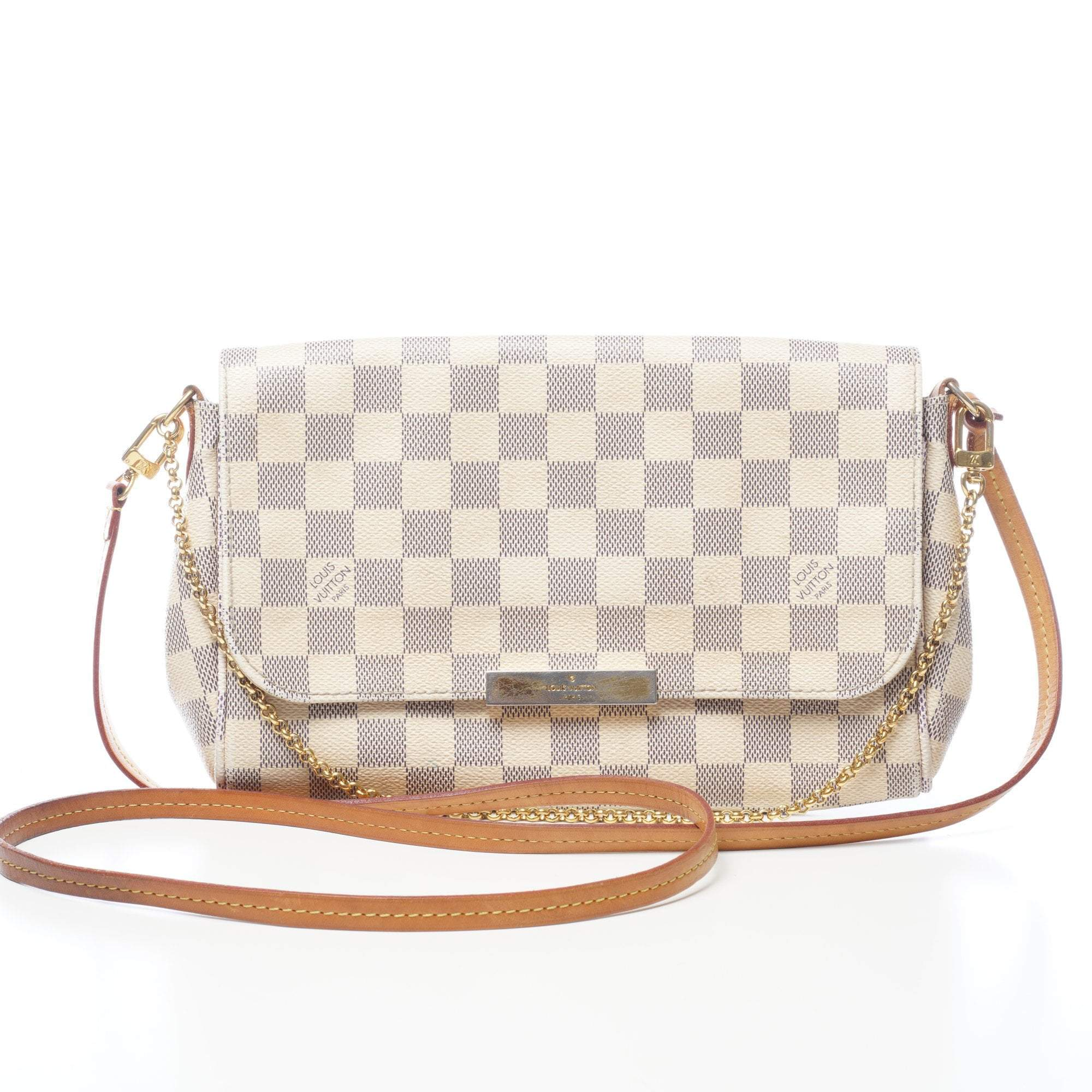 Louis Vuitton Damier Azur Canvas Favorite PM Handbag