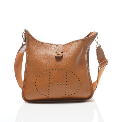 Hermes Evelyn PM Bag in Fjord Leather w/ SHW