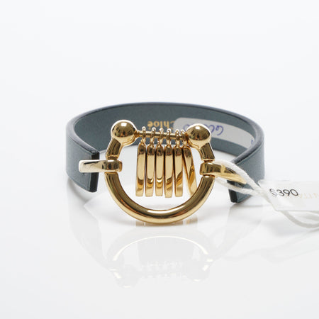 Chloé Marin Fringe Leather Bracelet in Blue