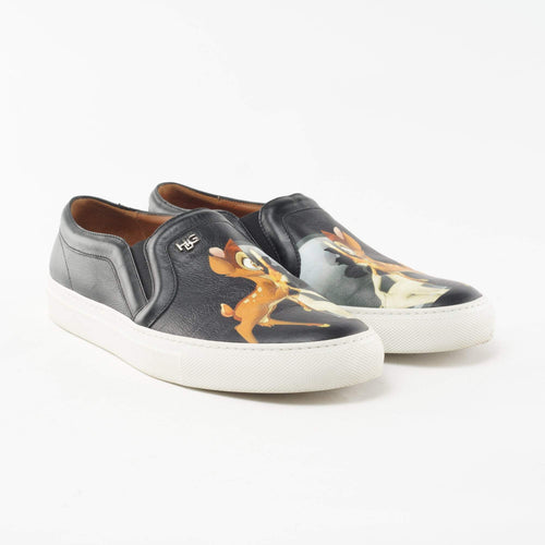 Givenchy Bambi Print Leather Skate Shoes