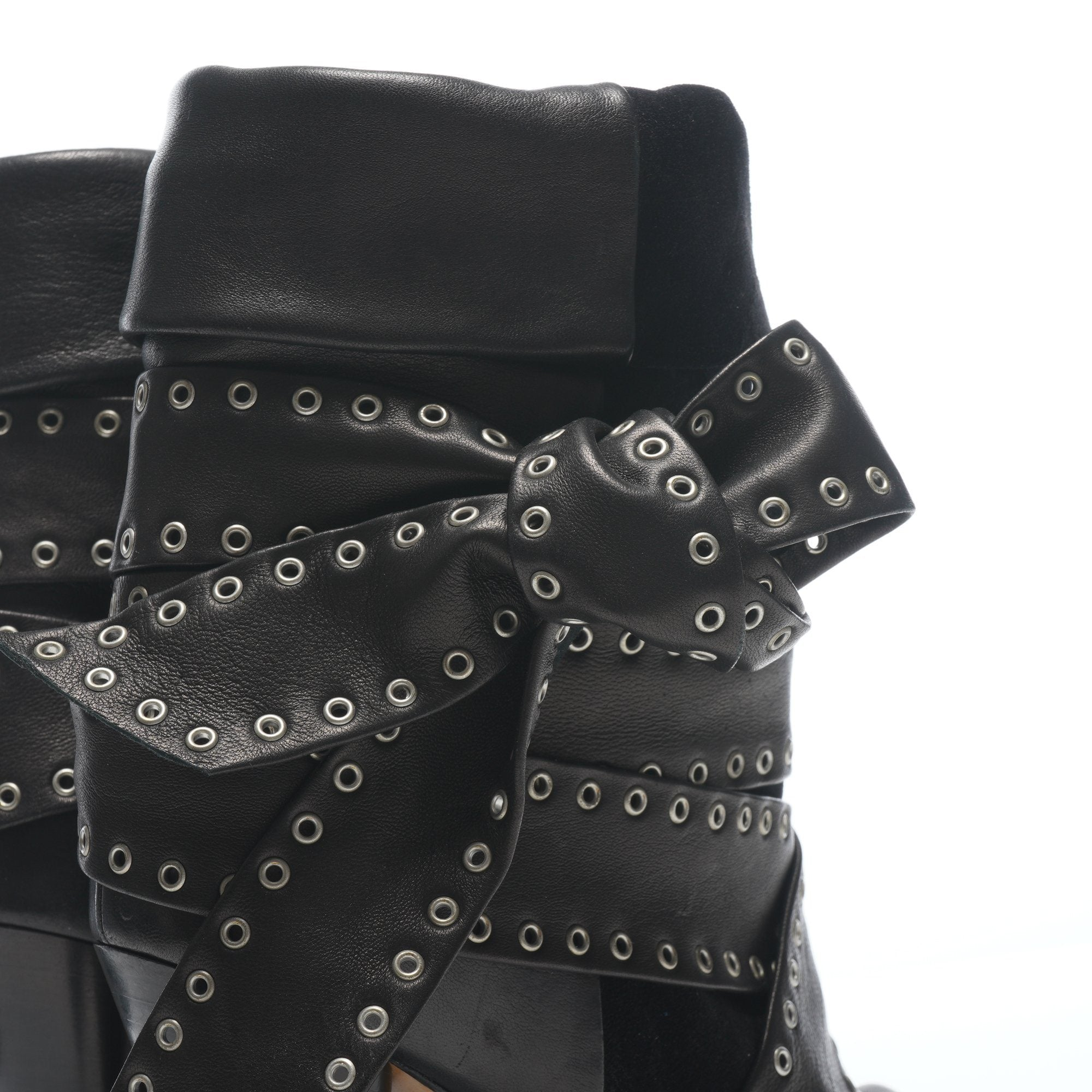 Isabel Marant Black Suede and Leather Wedge Boots