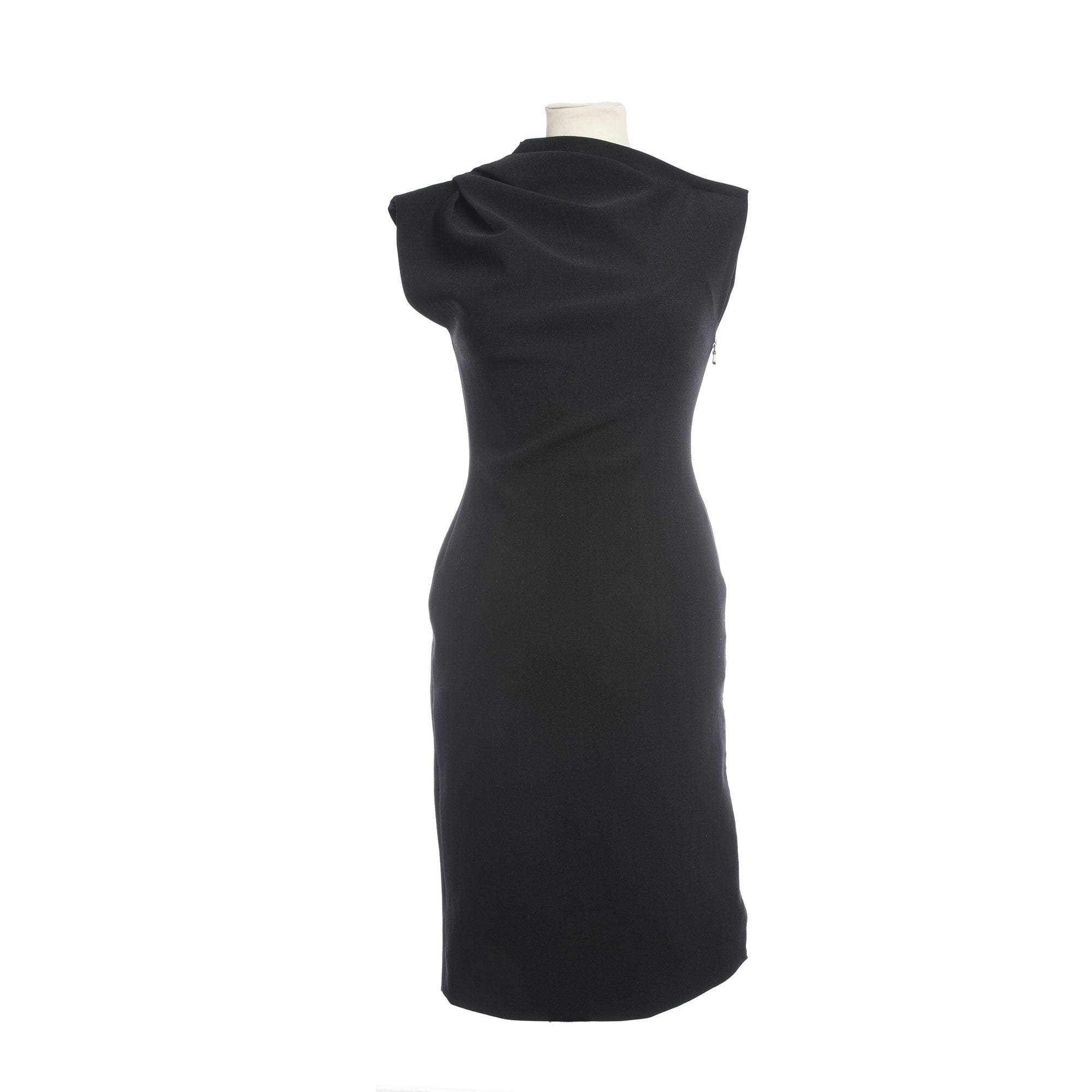 Lanvin Black Dress Sleeveless Zipper At The Side