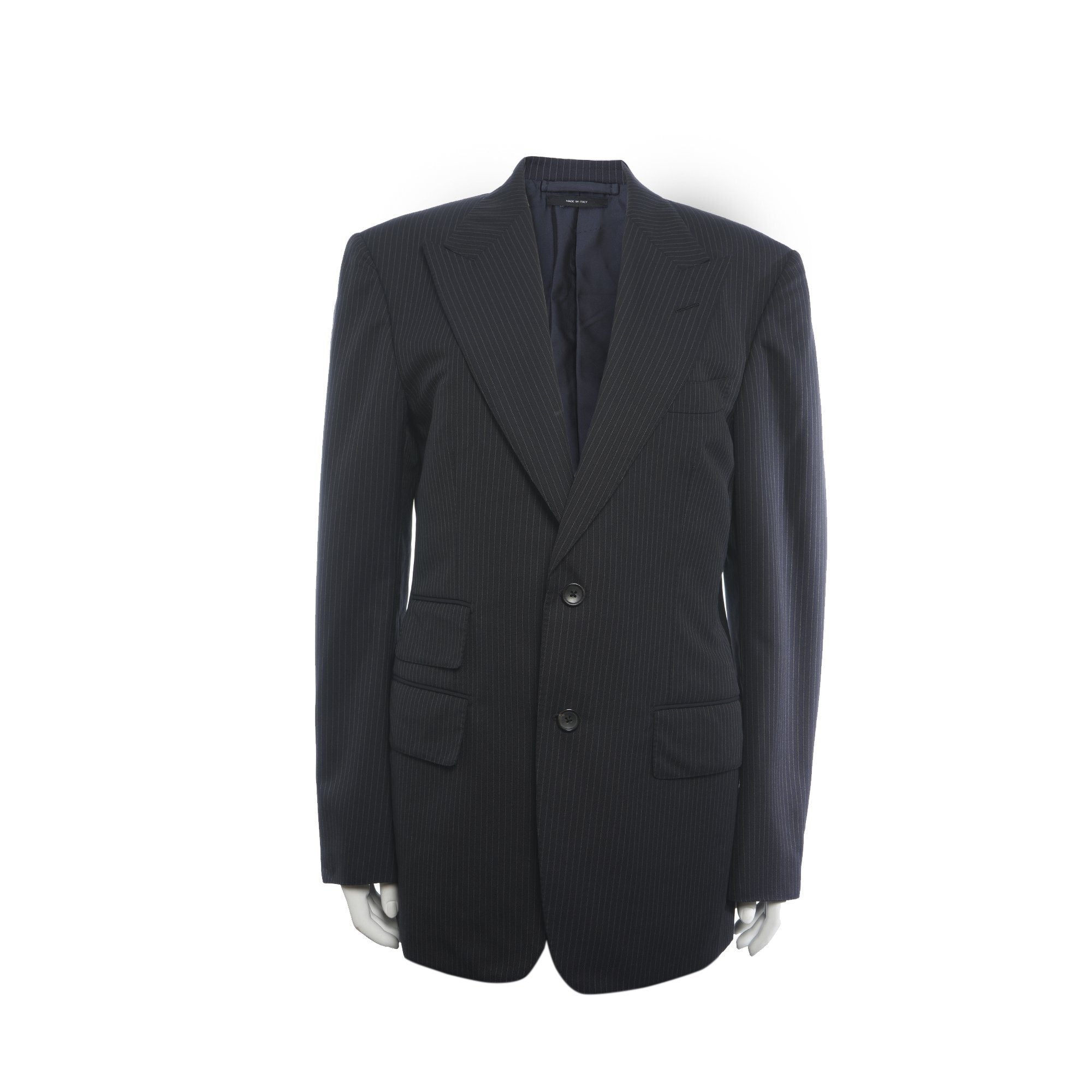 Tom Ford Two Button Pin Striped Black Suit