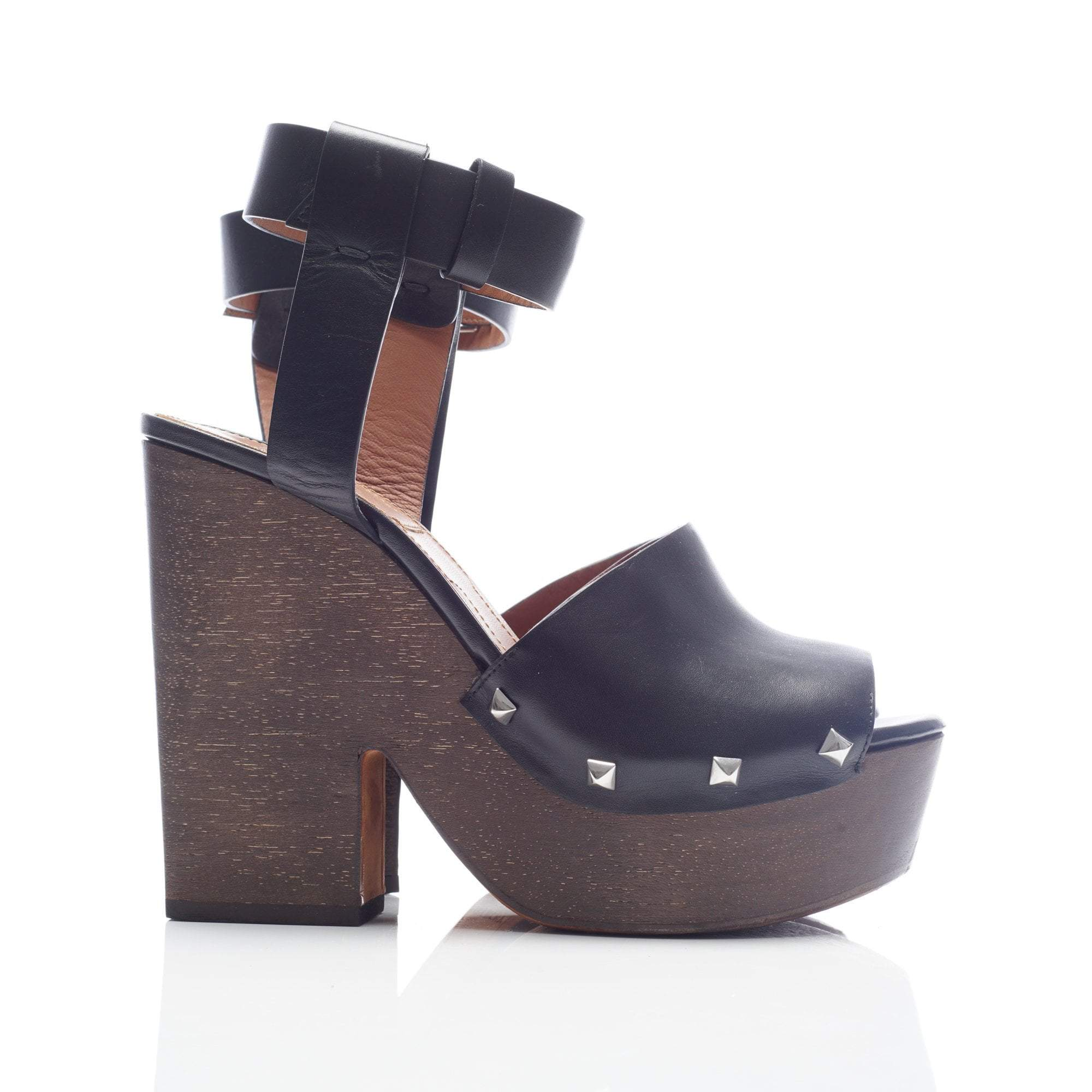 Givenchy Sofia' Stud Leather Wooden Clog Sandals