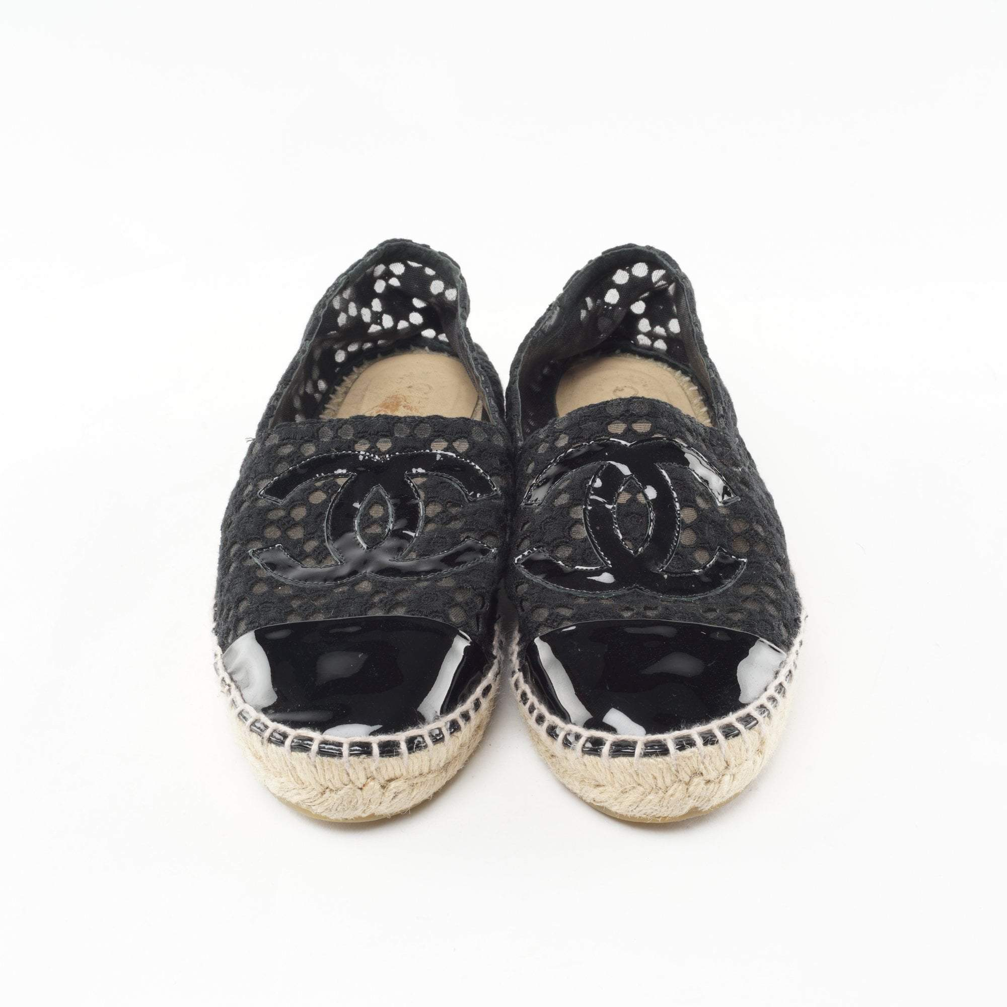 Chanel Black Lace Espadrilles