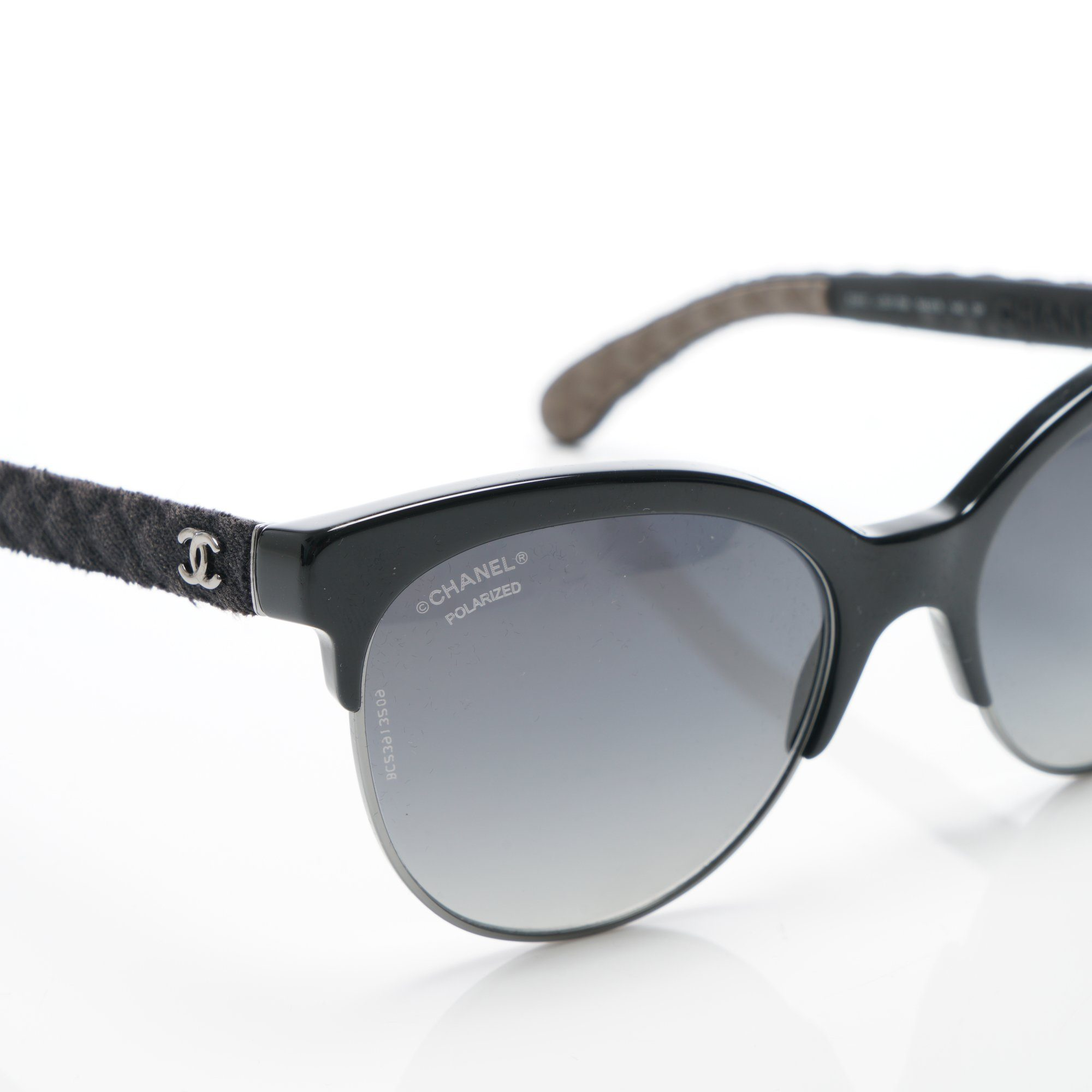 Chanel Sunglasses With Denim Arms