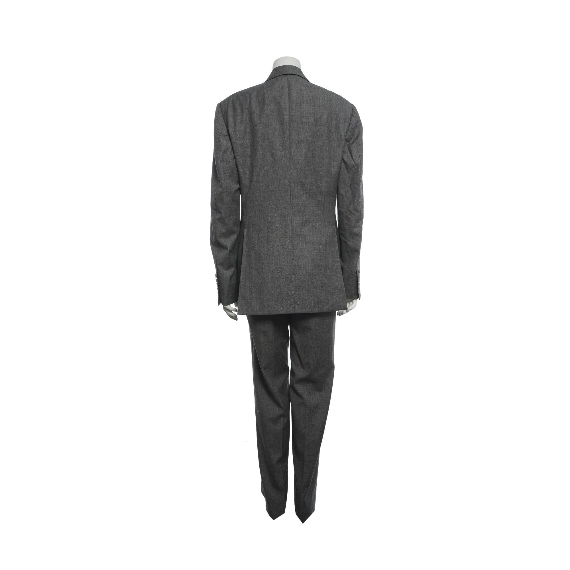 Tom Ford Two Button Peak Lapel Grey Suit