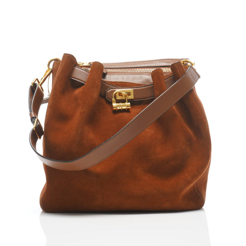 Tom Ford Natasha Brown Suede Convertible Bag