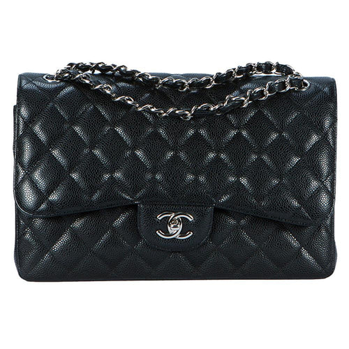 Chanel Caviar Classic Double Flap Bag Jumbo