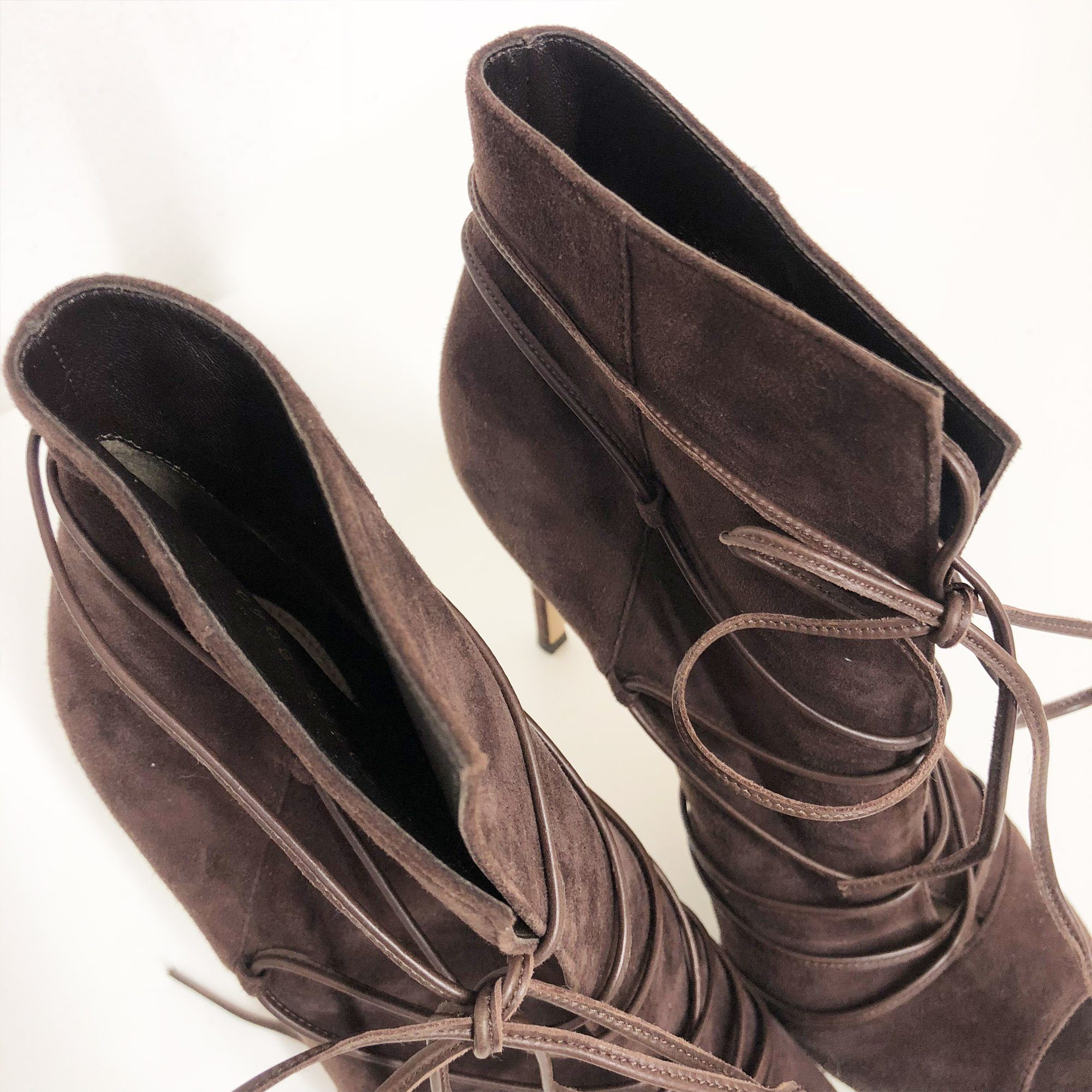Gianvito Rossi Brown Suede Ankle Boots