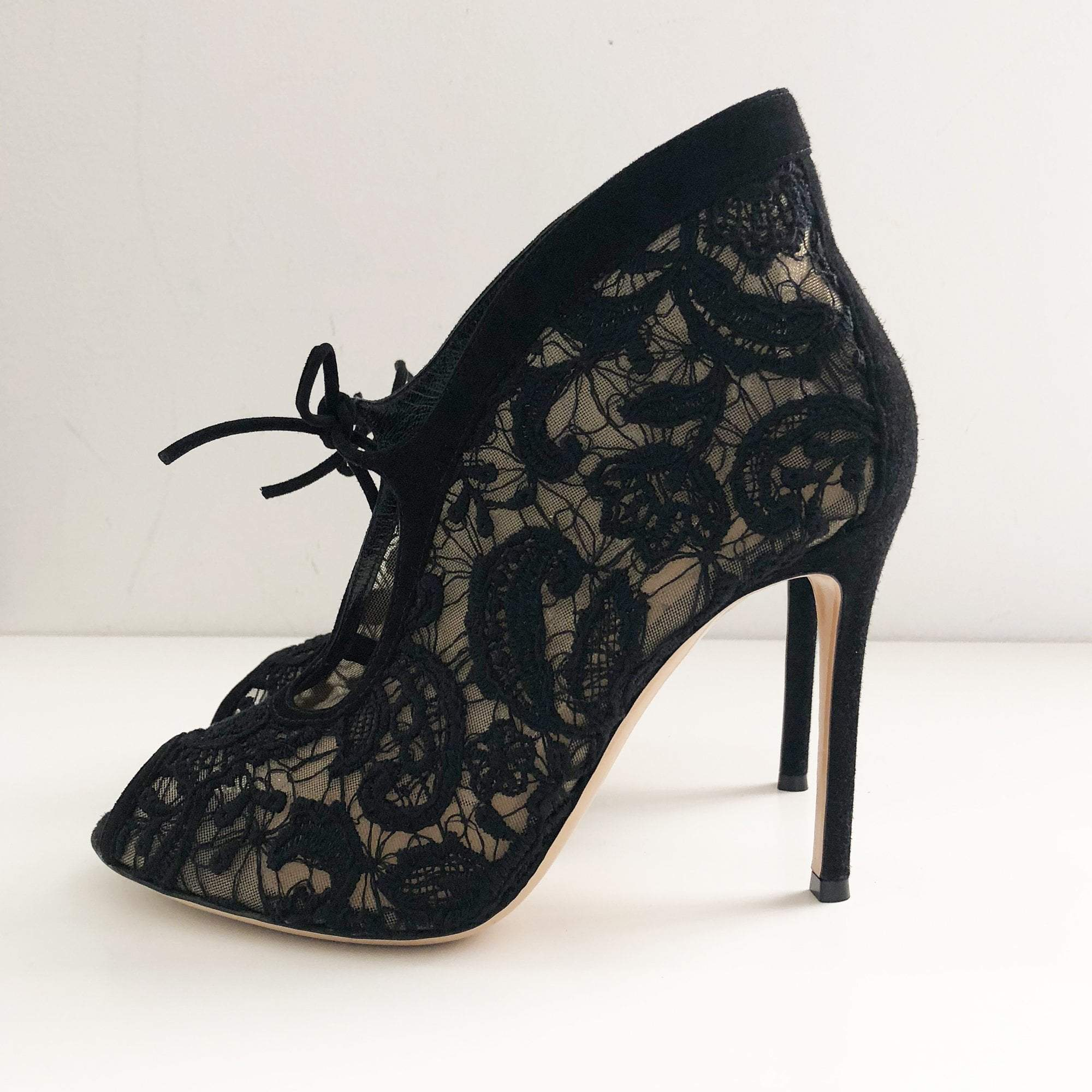 Gianvito Rossi Lace open-toe ankle boots