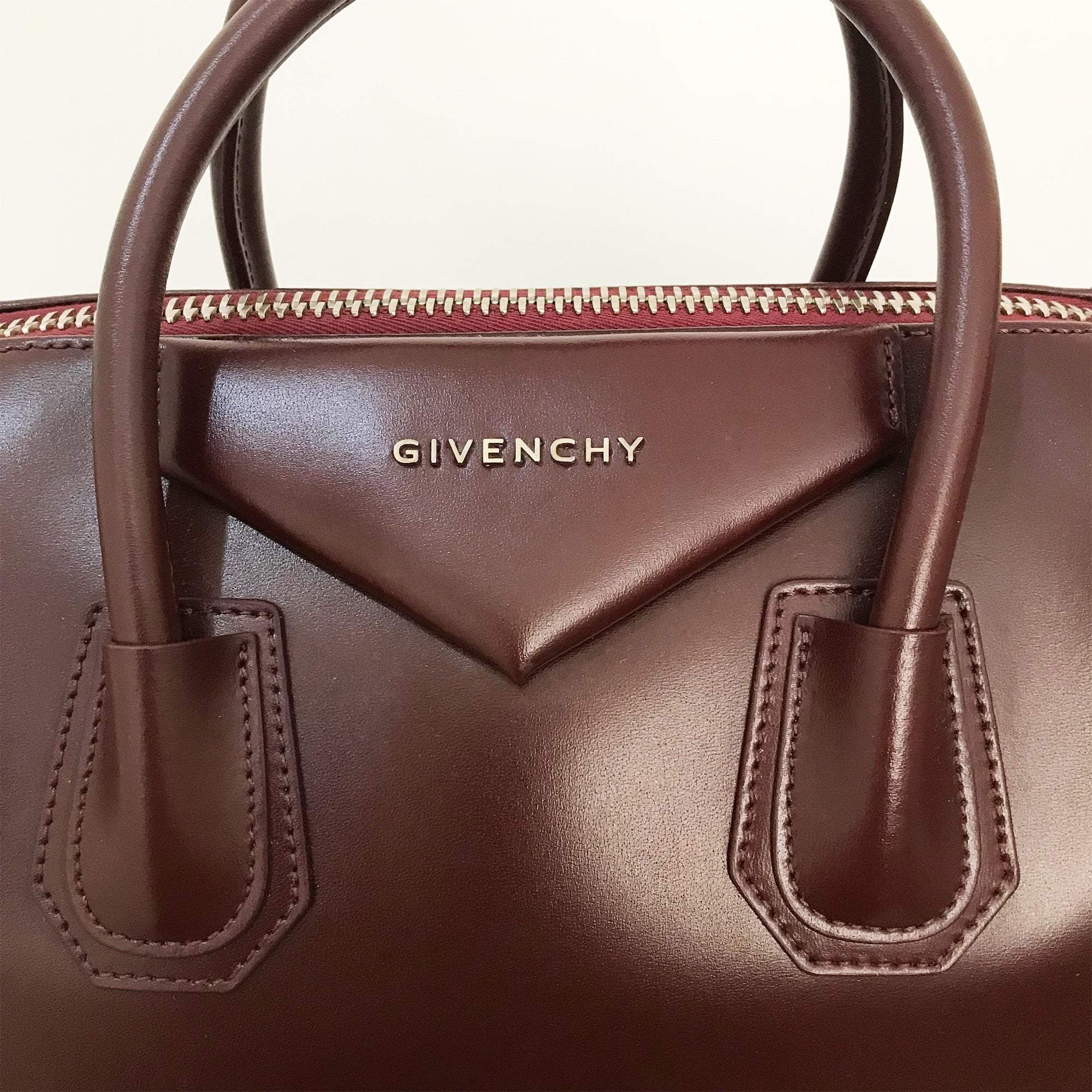 Givenchy Bordeaux Leather Medium Antigona Satchel
