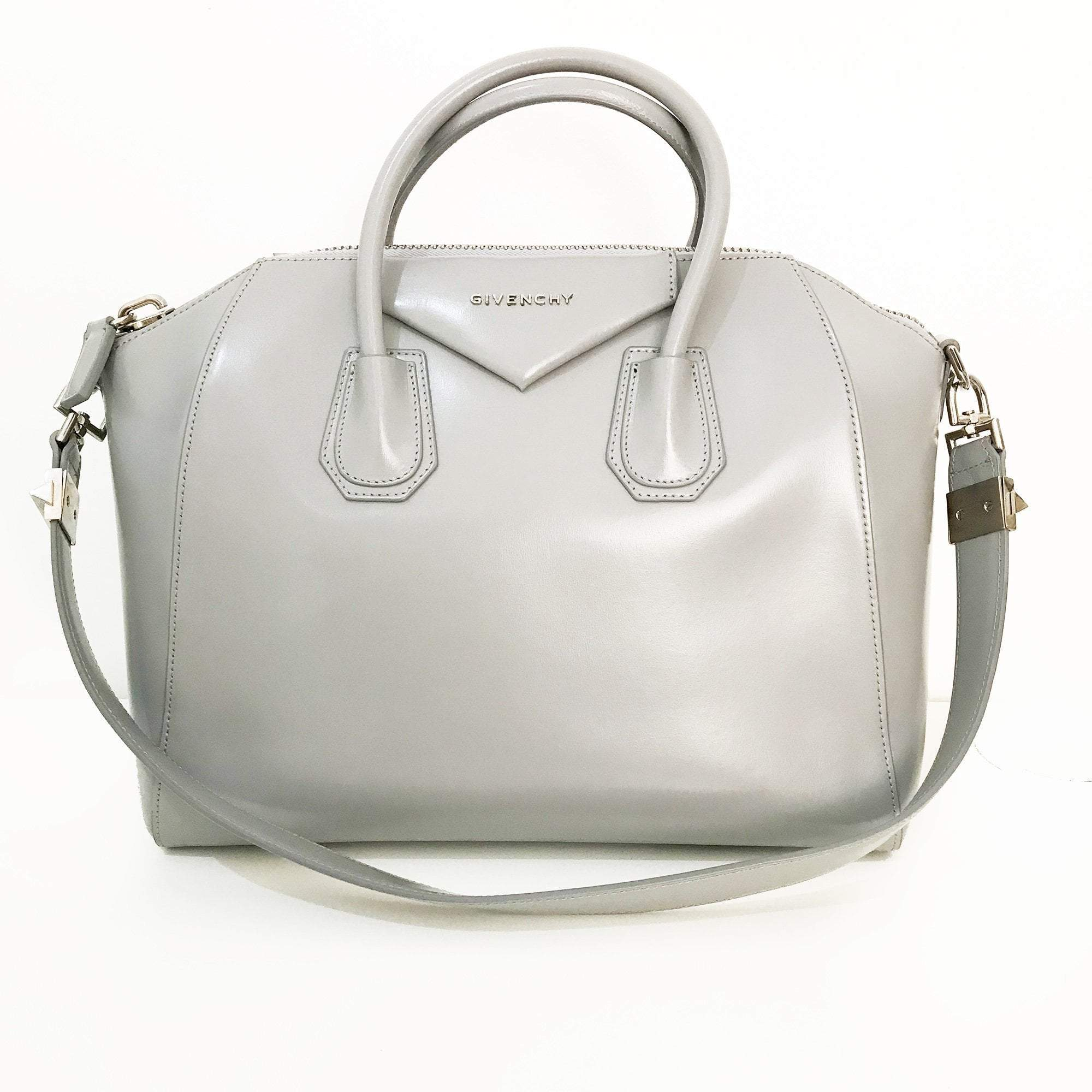 Givenchy Grey Leather Medium Antigona Satchel
