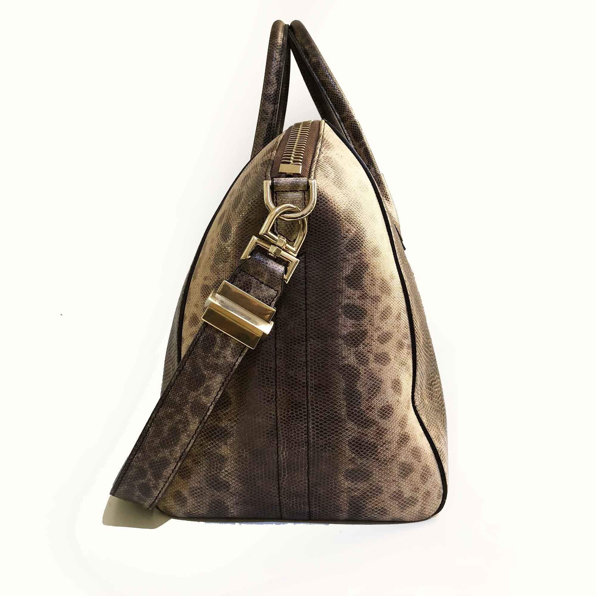 Givenchy Antigona Snakeskin Satchel Bag