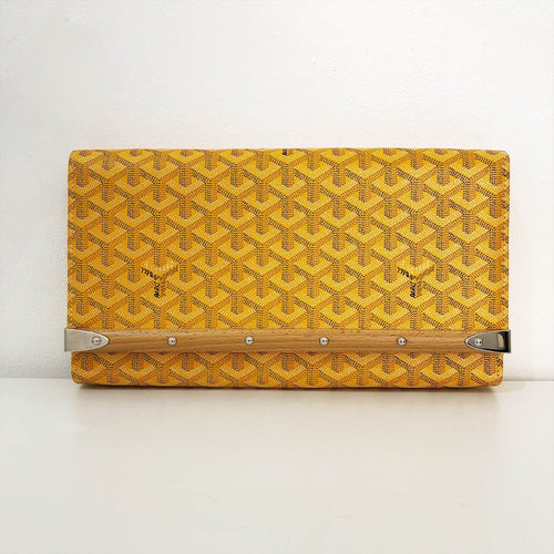Goyard Yellow Monte Carlo clutch