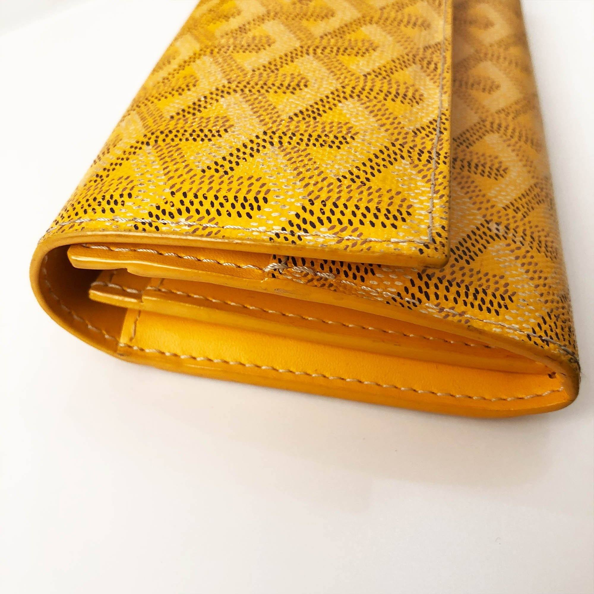 Goyard Long Yellow Wallet
