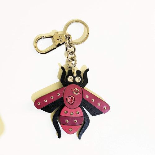 Gucci Bee Charm Key Ring with Swarovski Crystals