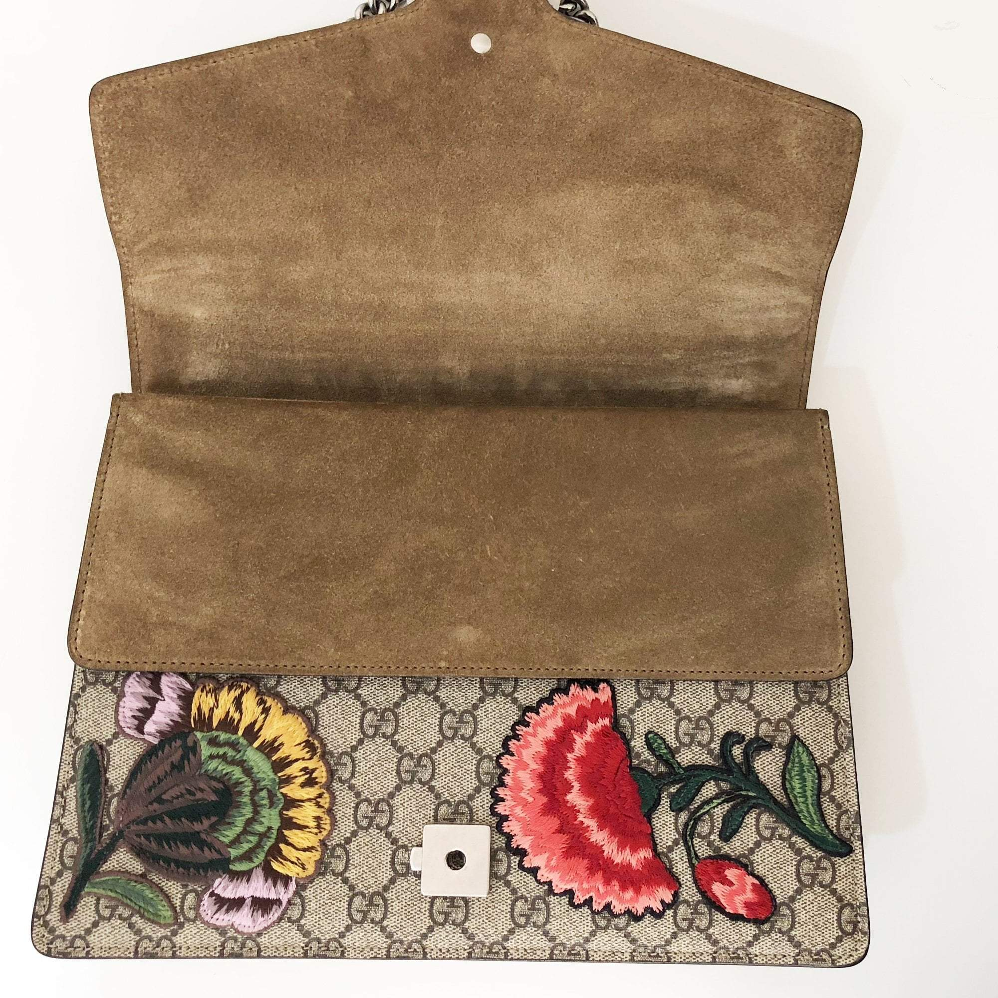 Gucci Dionysus Medium GG Flower Applique Shoulder Bag