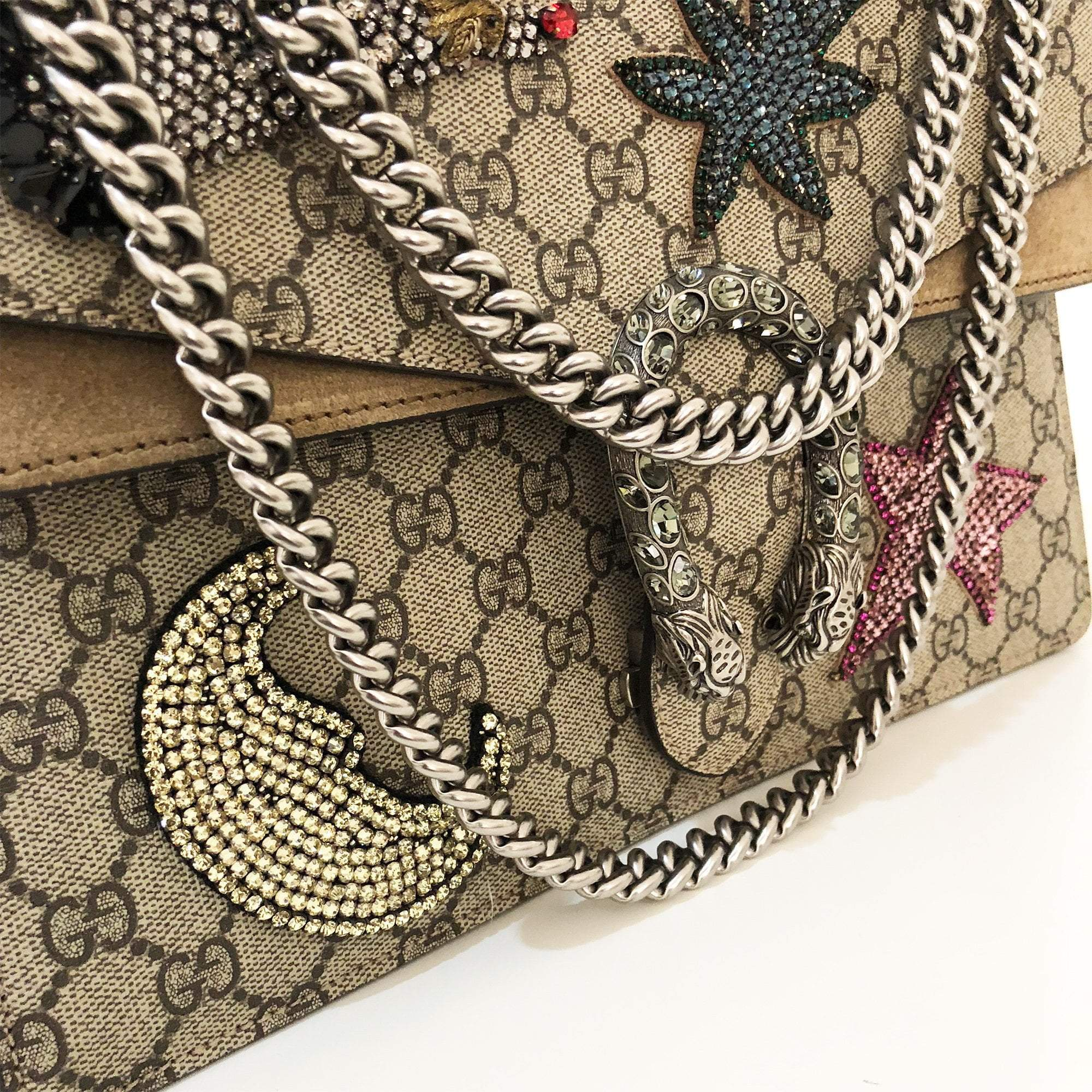 Gucci Dionysus Medium Rhinestone Shoulder Bag