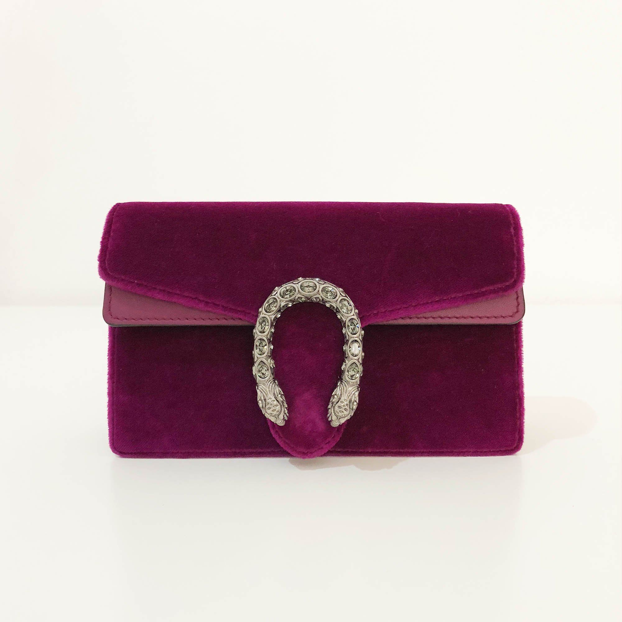 Gucci Dionysus Velvet Super Mini Bag