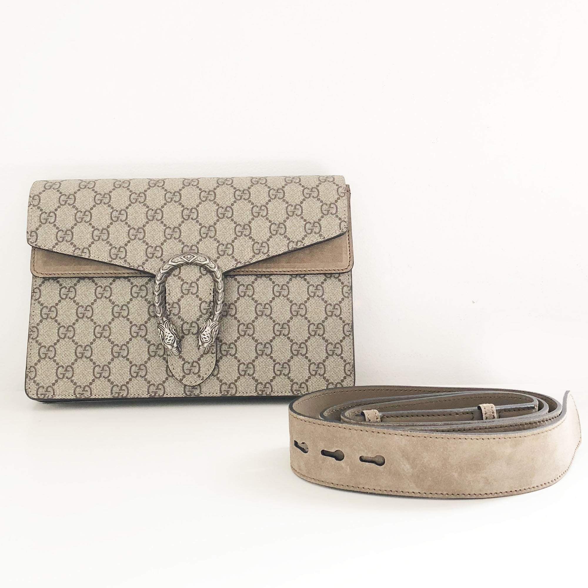 Gucci Dionysus Gg Supreme Canvas Belt Bag