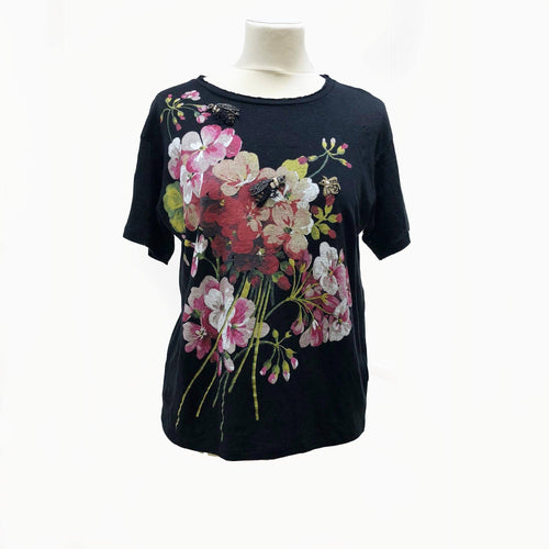 Gucci  Embellished floral-printed T Shirt