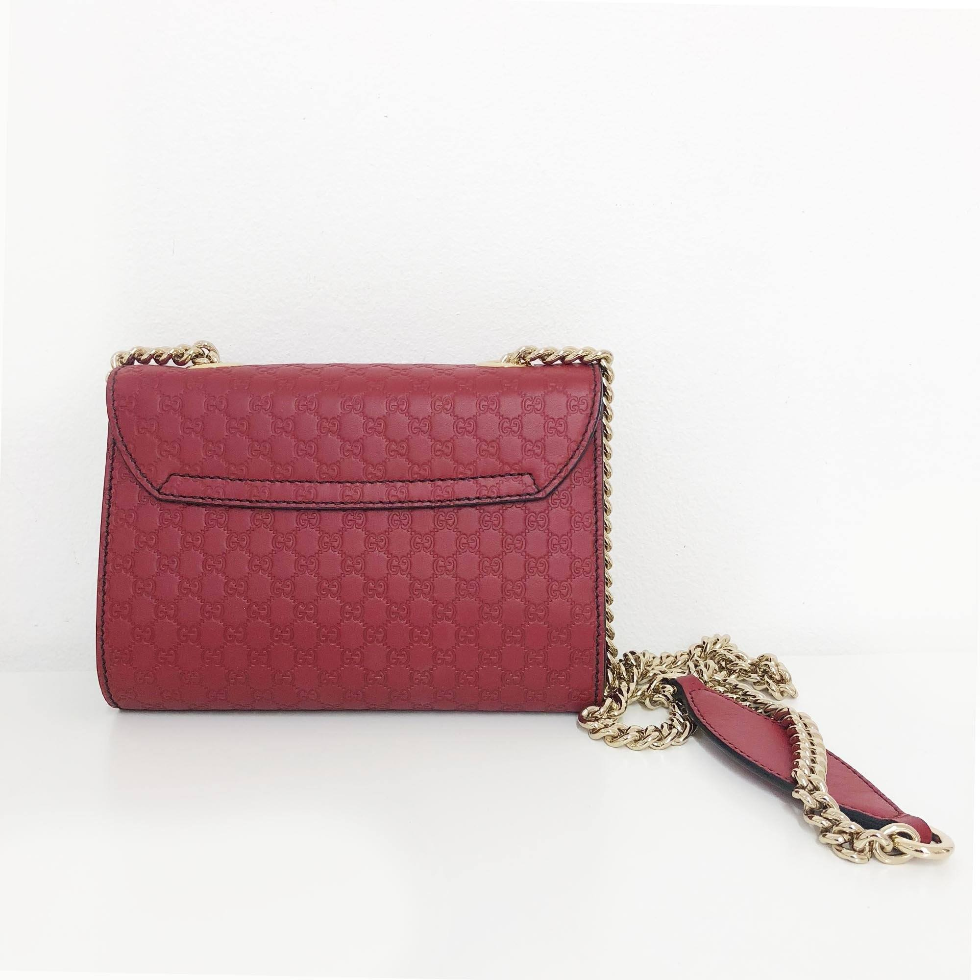Gucci Emily Mini Guccissima Leather Chain Shoulder Bag
