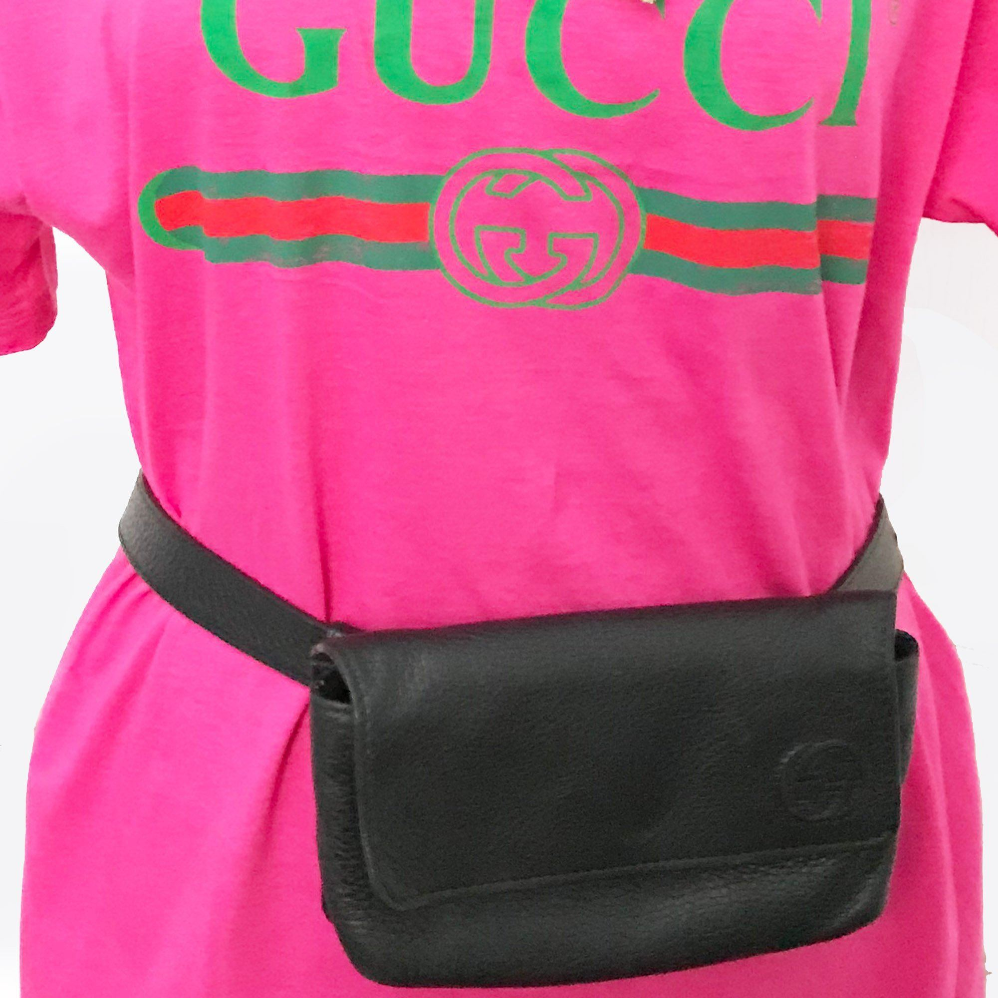 Gucci Flap Leather Belt Bag